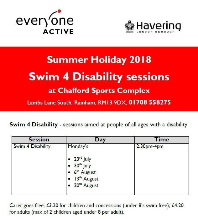 1Swim4Disability Chafford Summer 2018