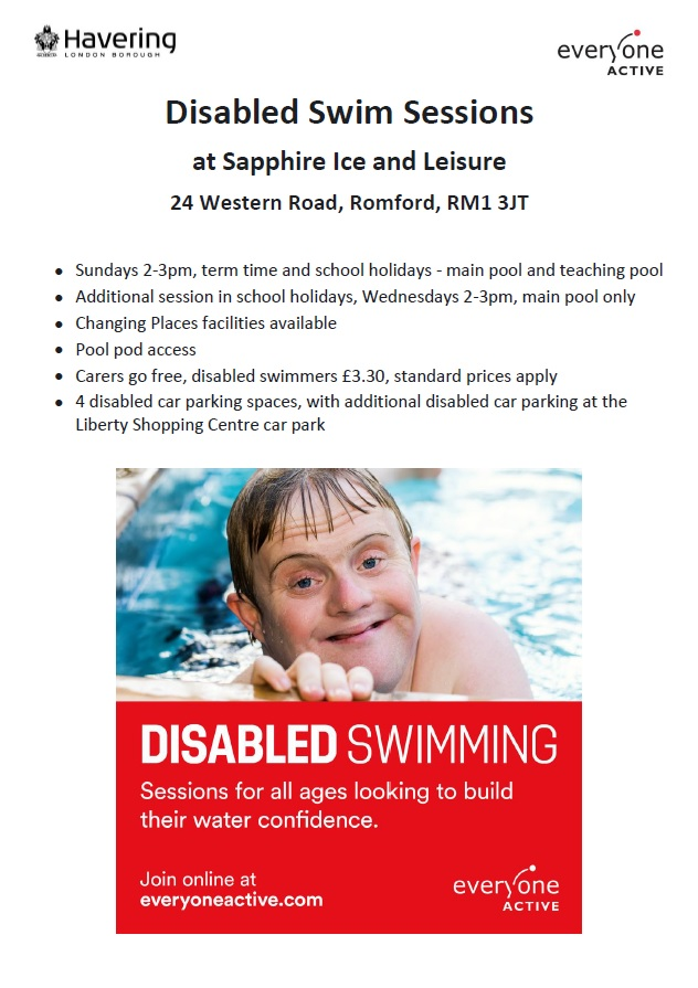 Disabled Swim Session poster