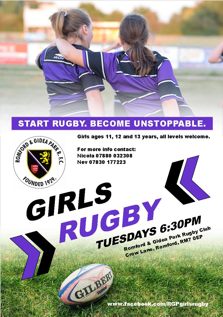 Girls Rugby flyer Friends