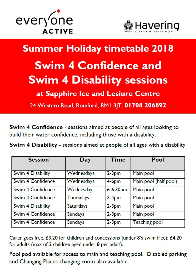 Holiday para swim sessions at Sapphire IL