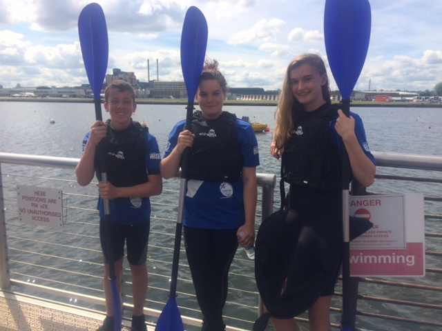 Kayak slalom team