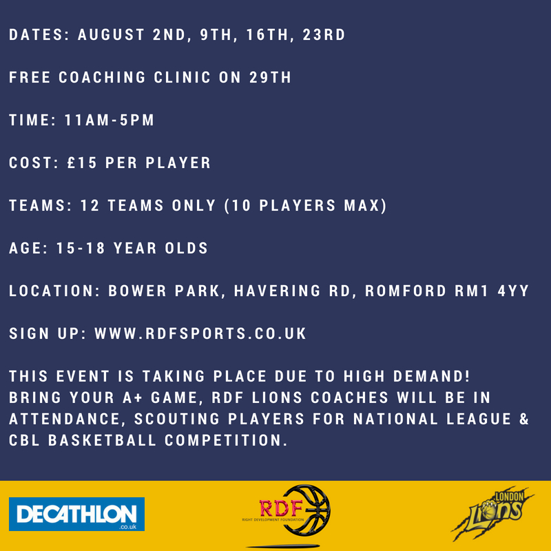 RDF LIONS DECATHLON SUMMER LEAGUE UPDATE 2